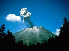 Arenal Erupting Costa Rica