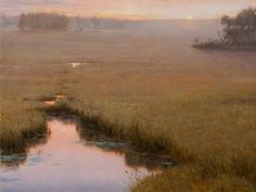 """Autumn Marsh:  Proverbs 2:2"" by Thomas Kegler, self-taught Aurora, NY painter, b.1970"