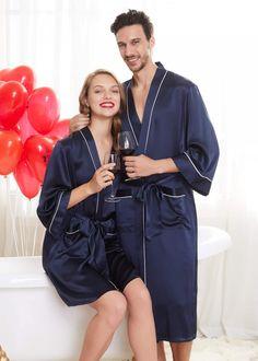 Pyjamas, Mens Silk Pajamas, Couple Pajamas, Mulberry Silk, Silk Satin, Nightwear, Pajama Set, Leather Skirt, Lingerie