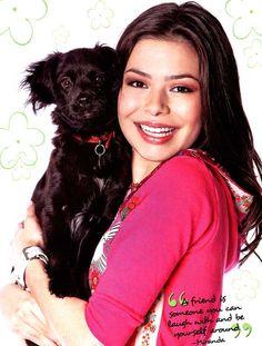 Miranda cosgrove with her dog!