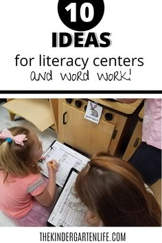 Blog post full of ideas for literacy centers and word work from thekindergartenlife.com #kindergarten #literacy #thekindergartenlife.com Literacy Games, Word Work Activities, Spelling Activities, Literacy Centers, Beginning Of Kindergarten, Kindergarten Literacy, Word Work Stations, Small Group Reading, Reading Worksheets