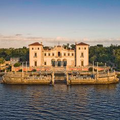 Brides.com: . Vizcaya Museum & Gardens Miami, Florida  Just minutes away from downtown Miami, this lush old-world estate features a grand Italian-style villa, sweeping coral staircases, and 10 acres of formal gardens (there's even a maze!). Exchange vows on the exquisite Garden Mound, followed by dinner on the East Terrace, overlooking Biscayne Bay; vizcaya.org  Browse more garden wedding venues.