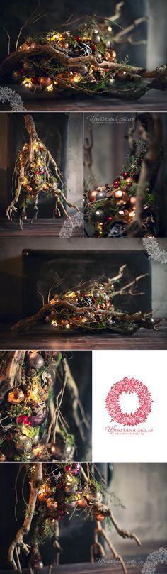 Composizione di Natale nella galleria boutique Mon Plaisir, DEKAPT, Ermenegildo Zegna