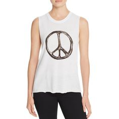 Nation LTD Womens Graphic Peace Tank Top