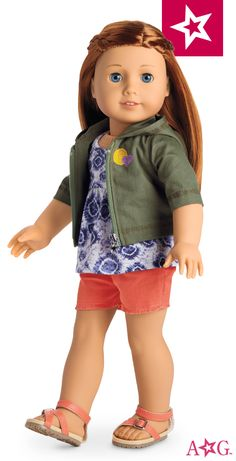 She can dress her doll for adventure in this outfit.