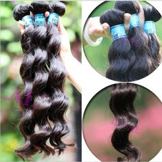 5pcs lot Virgin Brazilian Hair Weaving 12''~32'' Loose Wavy Queen Hair No Dyed Cuticle Intact Weft Extensions