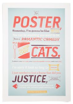 """Dear Poster Print""  Like it, concise and to the point. A great find for all graphic designers."
