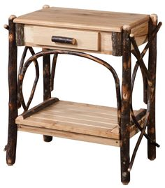 Classic Log End Table. What else needs to be said