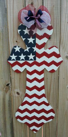 Happy 4th of July! Wooden, painted door hanger by Bless Your Heart Art :) kathryncrews@comcast.net