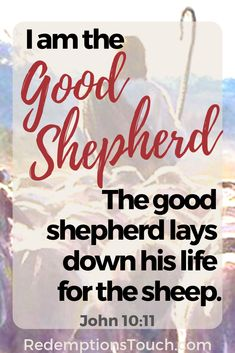 I am the good shepherd. The good shepherd lays down his life for the sheep. Motivational Verses, Bible Verses Quotes, Bible Scriptures, Savior, Jesus Christ, Hope Of The World, Bible John, Learn The Bible, Toddler Teacher