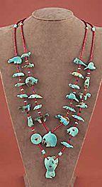 Fetish Necklace, Georgia Quandelacy, Zuni #necklace #turquoise