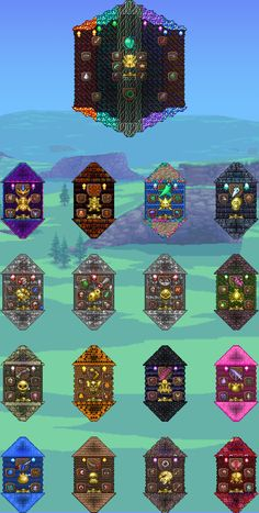 Terraria Memes, Terraria Tips, Terraria House Design, Terraria House Ideas, Minecraft Mods, Minecraft Houses, Minecraft Banner Designs, Trophy Rooms, Building Games