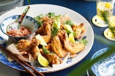 Crispy salt and pepper chicken wings