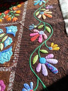 Gorgeous Ann Millie's Garden Quilt by Quilts of Love Patchwork Quilting, Quilt Stitching, Longarm Quilting, Free Motion Quilting, Applique Quilts, Hand Applique, Applique Patterns, Quilt Boarders, Machine Quilting Patterns