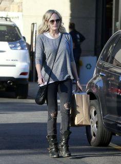Malin Ackerman in Level 99 Liza Skinny Jeans in Crawford