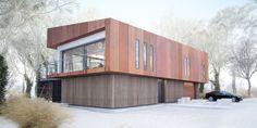 Projekt domu House x07 - DomPP.pl projekty domów Modern Architecture, Exterior, House Design, Contemporary Houses, Ideas, Modern Homes, Contemporary Homes, Modernism, Modern Houses