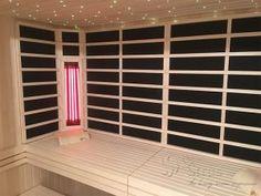 Infrared sauna with therapeutic heater Infra Sauna, Divider, Room, Furniture, Home Decor, Bedroom, Infrared Sauna, Rooms, Interior Design