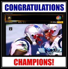 Congratulations @Patriots Champions! #NewEnglandPatriots 2015!