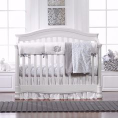 Simply White and Gray Bumperless Bedding