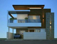 60 Choices Beautiful Modern Home Exterior Design Ideas 60 Modern Exterior House Designs, Modern House Facades, Modern Villa Design, Modern Architecture House, Exterior Design, Architecture Design, Bungalow Haus Design, Duplex House Design, House Front Design