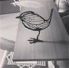 Got an amazing new toy from @jimbobart and @kit_katya_ thanks guys! 😘 A 3D printing pen!! Having a play, might take a while to get it right...  .  .  .  .  #paper #wood #bird #sculpture #3d #3dprinting #3dprintingpen #gift #wren #playing #form #line #silhouette #plastic #toy #handmade #homemade #craft #art #artsandcrafts #studio #design #interiordesign #interior #home #animal #nature #blackandwhite