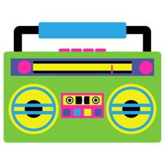 This bodacious boombox is a time warp back into the For more fun iconic imagery perfect for scrapbooking, cardmaking, parties and more please 90s Theme Party Decorations, Adult Party Themes, 80s Theme, 90s Party, Disco Party, Fresh Prince Theme, Capas Dvd, Retro Roller Skates, Photo Booth Frame
