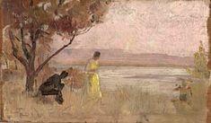 The Athenaeum - Mentone (Tom Roberts - ) Australian Painting, Australian Artists, Victoria Art, Artist Painting, Landscape Art, Impressionism, Cool Art, Art Photography, Fine Art