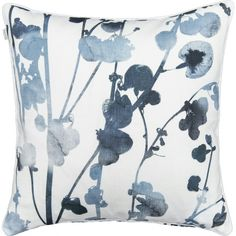 The Usva pattern reminds of summer mornings and evenings. The beautiful ink blue pattern depicts a silhouette of sorrel, and it is created by designer Liina Harju. The Usva cushion cover is made of cotton, and it can be machine washed gently at Snoopy, Cushions, Tapestry, Throw Pillows, Cover, Blue, Floral Patterns, Hanging Tapestry, Floral Prints