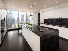 Our roundup of simply amazing interiors at NYC residences from Interior Design's most recently featured projects. Layout Design, Küchen Design, House Design, Interior Design Magazine, Big Kitchen, Kitchen Dining, Kitchen Ideas, Granite Kitchen, Granite Countertop