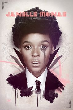 Love this chick. Janelle Monae. More awesome fearless/adrogynous women at www.OJinBG.com