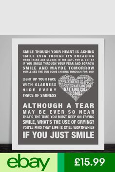 Lyrics to smile though your heart is aching