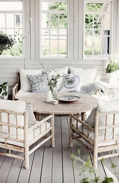 Search photos of sunroom designs and decoration. Discover ideas for your 4 periods space enhancement, including inspiration for sunroom decorating as well as layouts. Outdoor Furniture Sets, Decor, Cottage Style, Outdoor Spaces, Porch Design, Home Decor, House Interior, Sunroom Designs, Interior Design