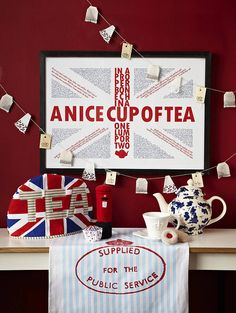 Pillar Box, Jam Ring Biscuit, Bunting & Union Jack Fairy Cake in a British Advert & Poster Campaign British Wedding Themes, British Themed Parties, Wedding Blessing, Wedding Gifts, Irish Decor, Queen Birthday, Harry And Meghan, Union Jack, Bunting