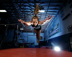 Jason Duchow tests out the Interfit S1 High Speed Sync, TTL 500 WS strobe during a gymnastics photo shoot in Coeur d'Alene Idaho