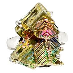 Bismuth Crystal 925 Sterling Silver Ring Jewelry s.7.5 SR184511   eBay