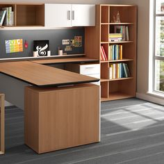 leverages Zo storage options to offer smart, efficient solutions for compact workspaces. Open Office, Open Plan, Office Furniture, Corner Desk, Floor Plans, Layout, Flooring, Workspaces, How To Plan