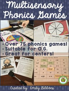 This is a growing bundle of 75 phonics games. It is suitable for Orton-Gillingham and other reading intervention programs. Every game uses a multisensory approach to practicing specific phonics skills. Many incorporate reading, and spelling simultaneously.These games come from my best selling Complete O.G.