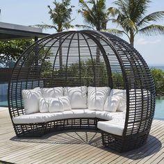 Skyline Design Nexus Patio Daybed with Sunbrella Cushions Cushion Color: Sunbrella Heather Beige 5476 Patio Daybed, Outdoor Daybed, Outdoor Seating, Outdoor Spaces, Outdoor Living, Outdoor Furniture, Outdoor Decor, Antique Furniture, Modern Furniture