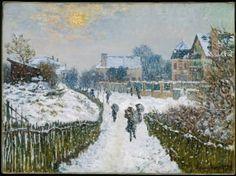 Claude Monet, Boulevard Saint-Denis, Argenteuil, in Winter, 1875. Crowdsourcing Monet VS Van Gogh in Boston | MuseumZero