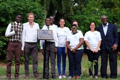 """Kensington Palace on Twitter: """"Prince Harry unveiled a plaque & helped to plant a tree at the gardens as part of the commonwealth project. #RoyalVisitAntiguaBarbuda"""