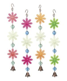 This Glow in the Dark Flower Chime Set by Grasslands Road is perfect! #zulilyfinds
