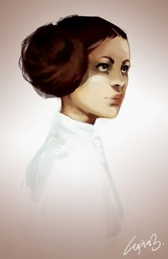 """The more you tighten your grip, Tarkin, the more star systems will slip through your fingers."" (A New Hope) Leia - by Alycia Marie #starwars #fanart"