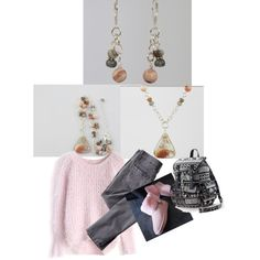 This is my kind of cozy outfit to wear with this Pink Plume Agate Pendant Necklace and Pink Opal Earrings by Rock2Gems on Etsy. Rock2Gems.etsy.com #agatenecklace #pinkopal #pendantnecklace #stonejewelry #pinkjewelry