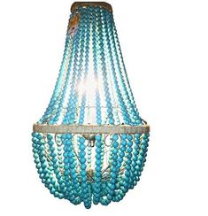 Evangeline Faux Turquoise Stone Empire Chandelier
