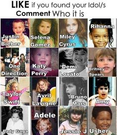 selena gomez,miley cyrus,rihanna,one direction,kety perry,demi lovato,brittney spears,arvil lavigne,bruno mars,adele,usher,jessie j