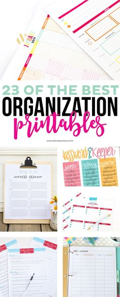 Today I have 23 of the BEST Organization Printables to help make life easier for YOU! I have included everything from a budget tracker, cleaning schedule, meal planners, chore charts for the kids, moving checklists, a 2017 monthly calendar plus more!