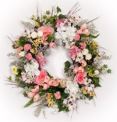"Carolina Breeze Silk Wreath (26"") - Spring Wreath"