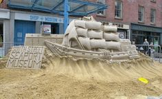 sand sculptors by matt long - via designboom