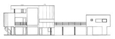 Casa Saltzman,Elevación Sur, R. Meier