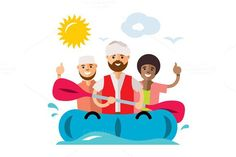 Refugee migrants boat. Islamic Icons. $6.00